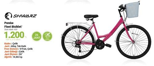 Shwarz Pembe Floot Bisiklet 26 Jant image