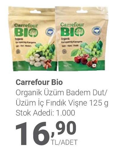 Carrefour Bio Organik Üzüm Badem Dut/Üzüm İç Fındık Vişne 125 g image