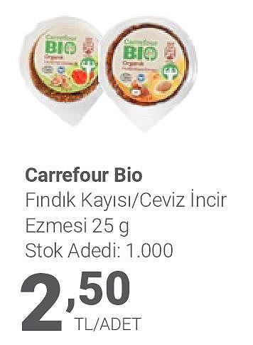 Carrefour Bio Fındık Kayısı/Ceviz İncir Ezmesi 25 g image
