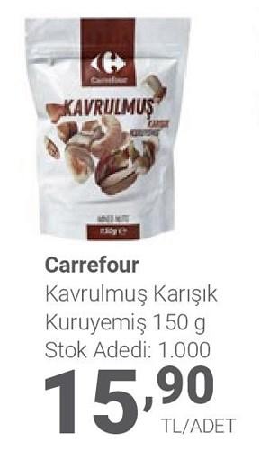 Carrefour Kavrulmuş Karışık Kuruyemiş 150 g image