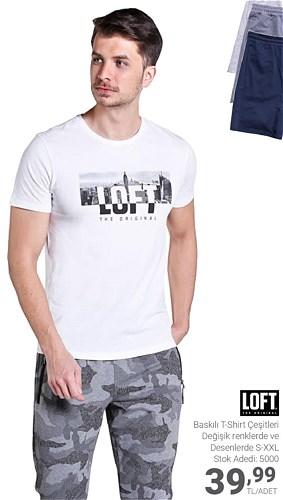 Loft Baskılı T-Shirt Çeşitleri/Adet image