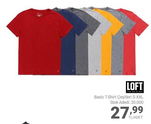 CarrefourSA Loft Basic T-shirt Çeşitleri/Adet