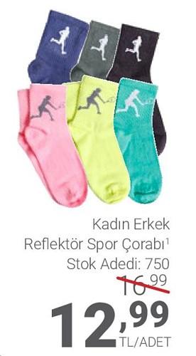 Kadın Erkek Reflektör Spor Çorabı image