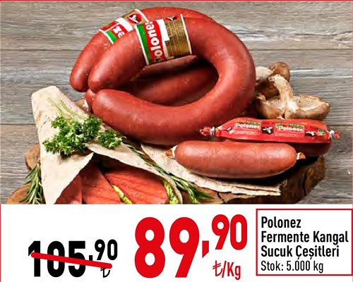 Polonez Fermente Kangal Sucuk Çeşitleri kg image