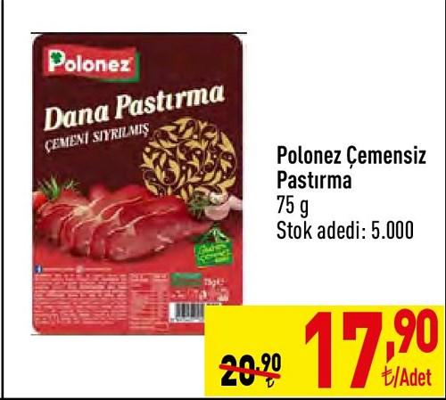 Polonez Çemensiz Pastırma 75 g image
