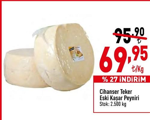 Cihanser Teker Eski Kaşar Peyniri kg image