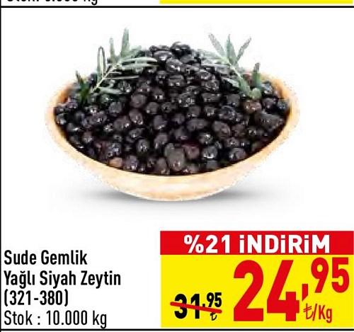 Sude Gemlik Yağlı Siyah Zeytin (321-380) kg image