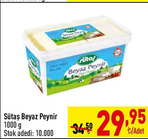 Sütaş Beyaz Peynir 1000 g image