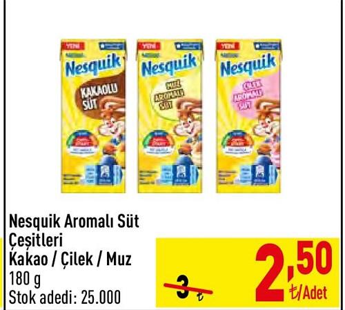 Nesquik Aromalı Süt Çeşitleri 180 ml image