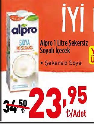 Alpro 1 l Şekersiz Soyalı İçecek image