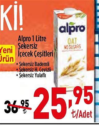 Alpro 1 l Şekersiz İçecek Çeşitleri image