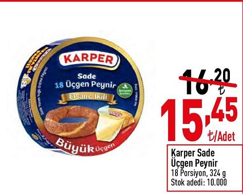 Karper Sade Üçgen Peynir 18 Porsiyon 324 g image