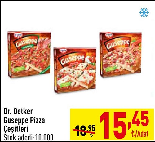 Dr.Oetker Guseppe Pizza Çeşitleri/Adet image