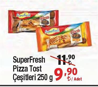 SuperFresh Pizza Tost Çeşitleri 250 g image