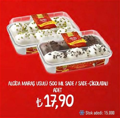 Algida Maraş Usulü 500 ml Sade/Sade-Çikolatalı  image
