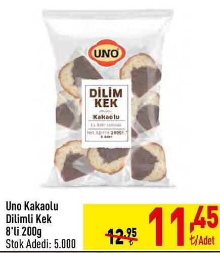 Uno Kakaolu Dilim Kek 8'li 200 g image