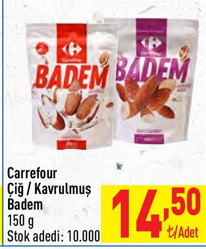 Carrefour Çiğ/Kavrulmuş Badem 150 g image