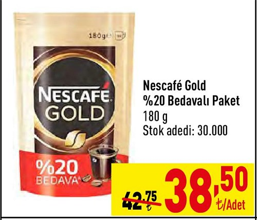 Nescafe Gold %20 Bedavalı Paket 180 g image
