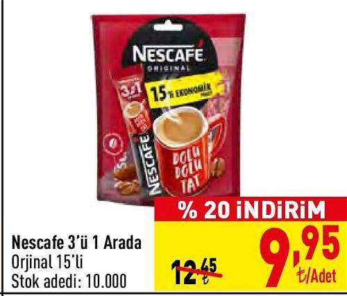 Nescafe 3'ü 1 Arada Original 15'li image