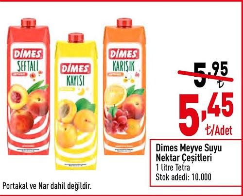 Dimes Meyve Suyu Nektar Çeşitleri 1 l image