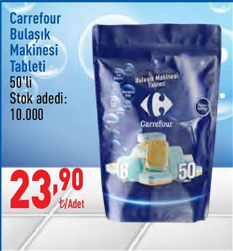 Carrefour Bulaşık Makinesi Tableti 50'li image