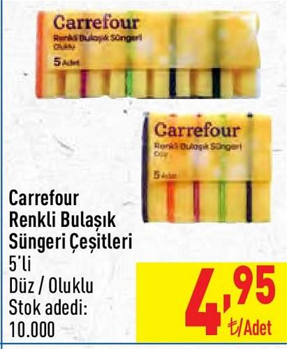 Carrefour Renkli Bulaşık Süngeri Çeşitleri 5'li image