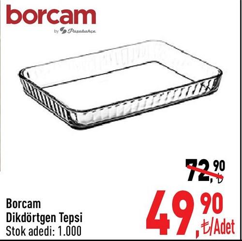 Paşabahçe Borcam Dikdörtgen Tepsi image