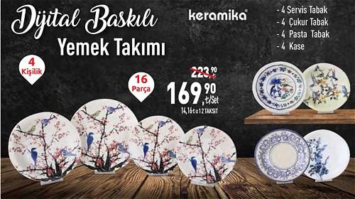 Keramika Dijital Baskılı Yemek Takımı 4 Kişilik 16 Parça image