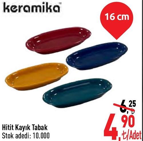 Keramika Hitit Kayık Tabak 16 cm image