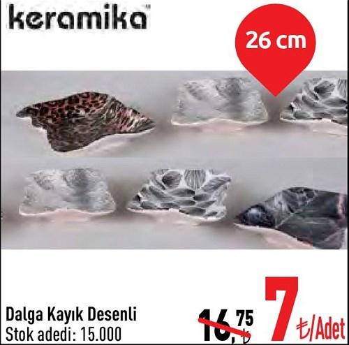 Keramika Dalga Kayık Desenli 26 cm image
