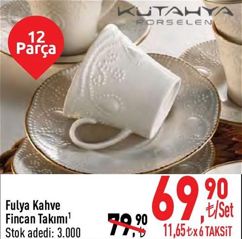 Kütahya Porselen Fulya Kahve Fincan Takımı 12 Parça image