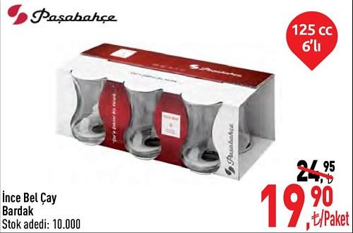 Paşabahçe İnce Bel Çay Bardak 125 cc 6'lı image