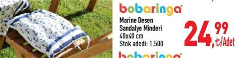 Bobaringa Marine Desen Sandalye Minderi 40x40 cm image