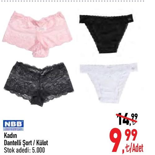 NBB Kadın Dantelli Şort/Külot image