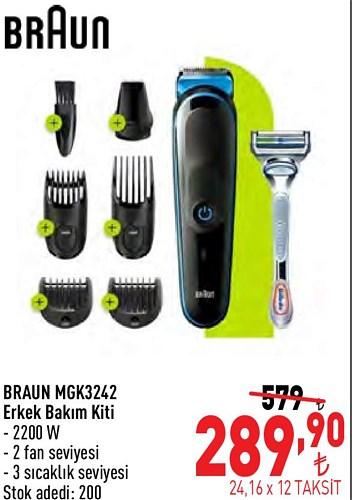 Braun MGK3242 Erkek Bakım Kiti 2200 W image