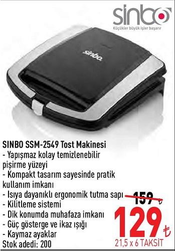 Sinbo SSM-2549 Tost Makinesi image