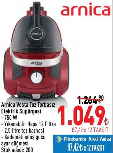 Arnica Vesta Toz Torbasız Elektrik Süpürgesi 750 W image