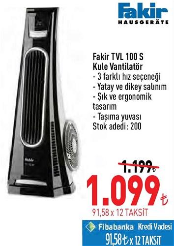 Fakir TVL 100 S Kule Vantilatör image