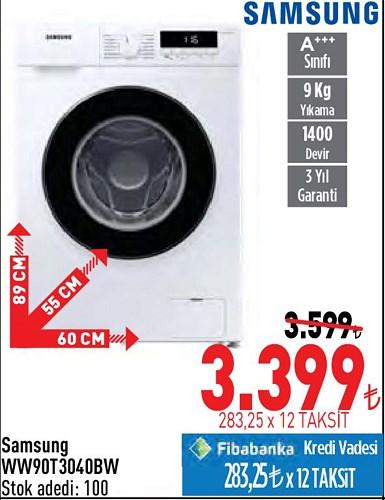 Samsung WW90T3040BW image