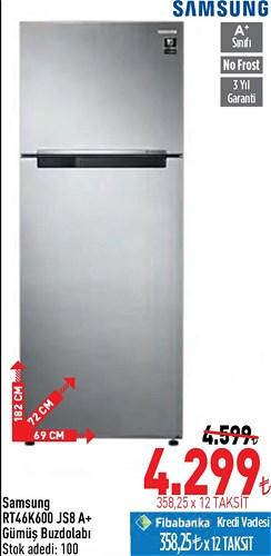 Samsung RT46K600 JS8 A+ Gümüş Buzdolabı image