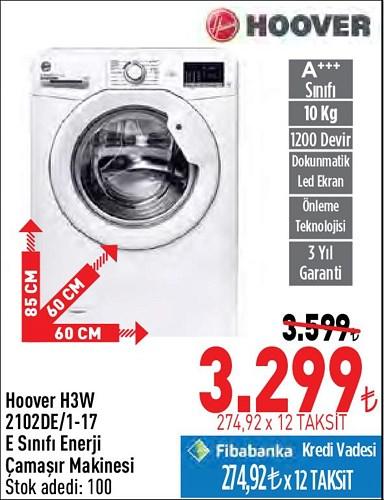 Hoover H3W 2102DE/1-17 E Sınıfı Enerji Çamaşır Makinesi image
