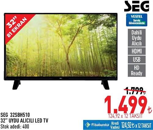 """Seg 32SBH510 32"""" Uydu Alıcılı Led Tv image"""