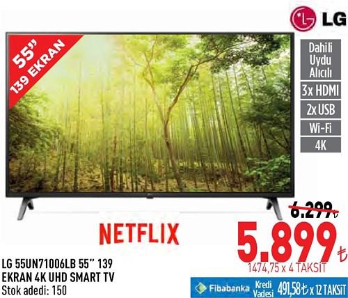 "LG 55UN71006LB 55"" 139 Ekran 4K UHD Smart Tv image"