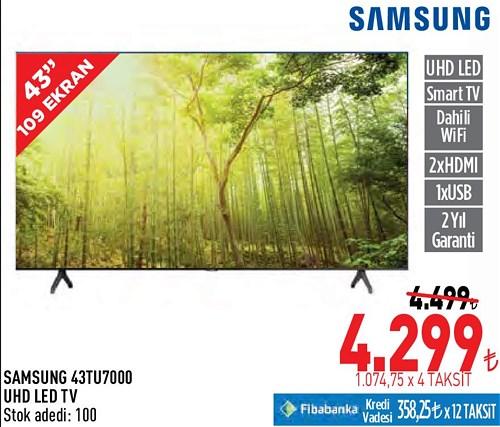 Samsung 43TU7000 UHD Led Tv image