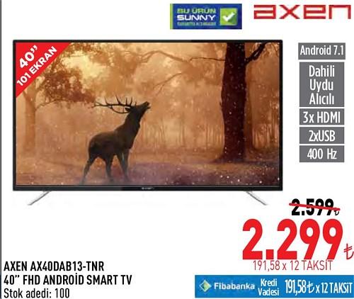 Axen AX40DAB13-TNR 40'' FHD Android Smart Tv image