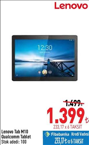 Lenovo Tab M10 Qualcomm Tablet image