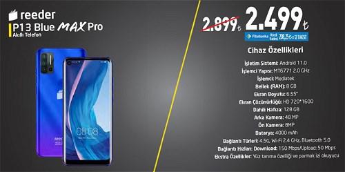 Reeder P13 Blue Max Pro Akıllı Telefon 128 GB image