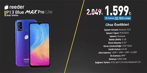 Reeder P13 Blue Max Pro Lite Akıllı Telefon 64 GB image