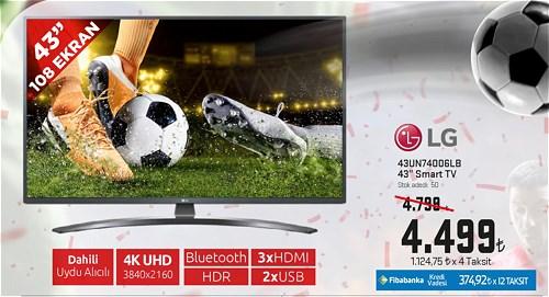 "LG 43UN74006LB 43"" 108 Ekran Smart Tv image"