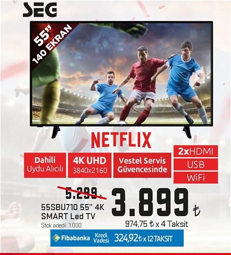 "Seg 55SBU710 55"" 140 Ekran 4K Smart Led Tv image"
